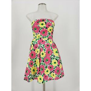 Lilly Pulitzer Felicity Doodle Bug Strapless Dress